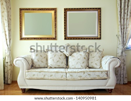Classic Living room interior - stock photo