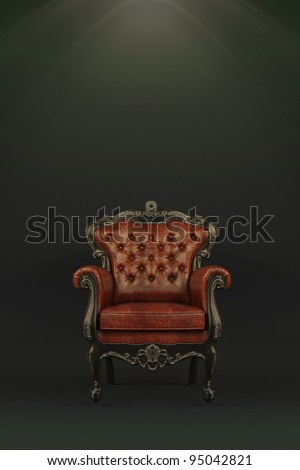 Classic luxurious armchair - stock photo