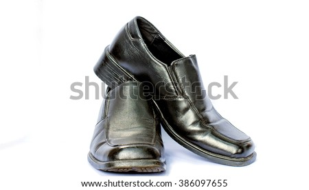 Classic man shoes isolated on white background