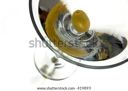 Classic martini isolated and cornered - stock photo