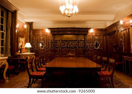 Classic meeting room in old interior