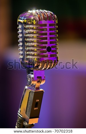 classic microphone - stock photo