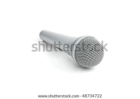 classic microphone isolated on white
