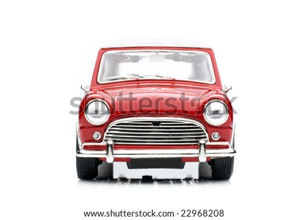 Classic mini model front view - stock photo