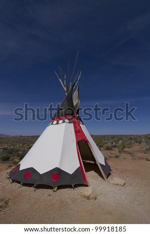 Classic native Indian tee-pee, arizona, USA - stock photo