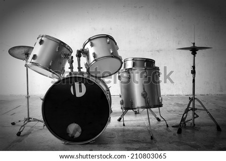 Classic of drums musical tool - stock photo