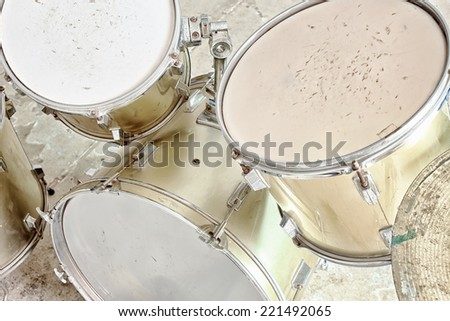 Classic of drums musical tool High key - stock photo