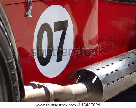 Classic old fashioned light weight racing car - stock photo