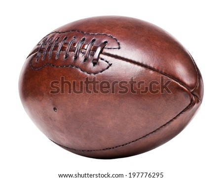 classic old leather football background