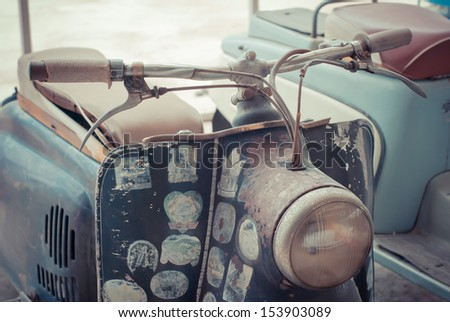 Classic old motorcycle - stock photo