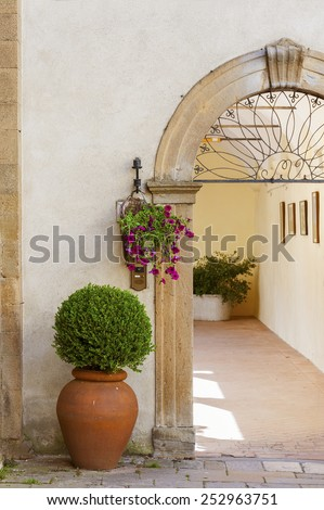 Classic Old Residential in Italy - stock photo