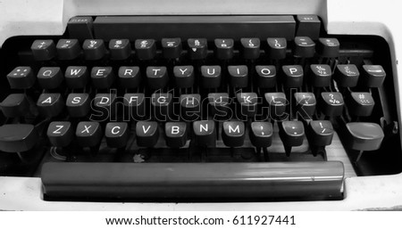 Classic Old Typewriter with blurry background.