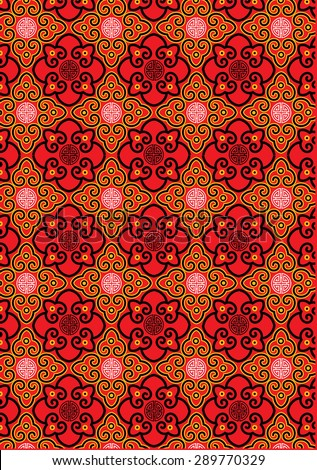 Classic oriental traditional background pattern - stock photo