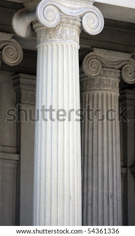 Classic Ornate Columns of US Department of The Treasury - stock photo