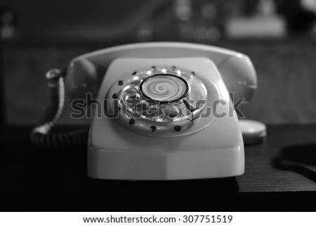 classic phone - stock photo