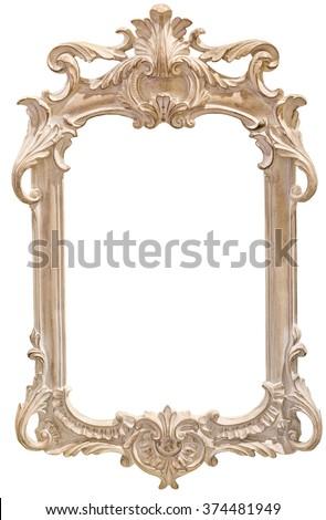 Classic photo frame isolated on white background. - stock photo