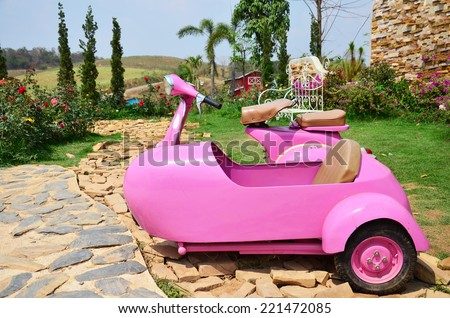 Classic Pink Sidecar  - stock photo