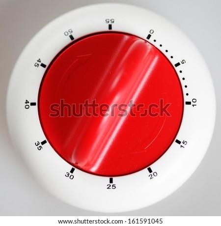 Classic plastic kitchen timer - stock photo