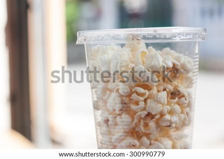 classic popcorn. - stock photo