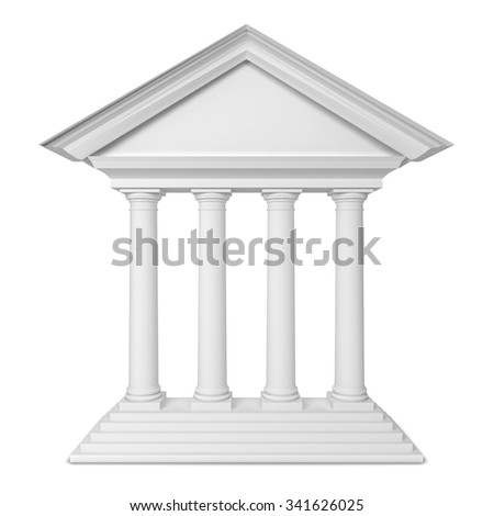 Classic portal. 3d illustration isolated on white background  - stock photo