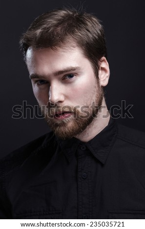 Classic portrait of a handsome man. - stock photo