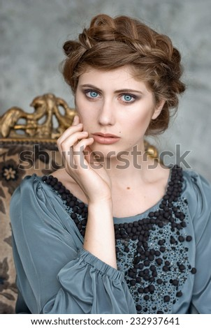 Classic portrait of beautiful young woman