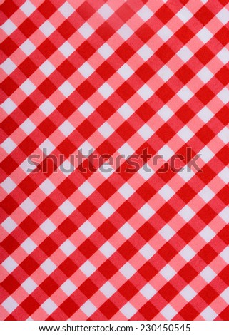 Classic red table cloth - stock photo
