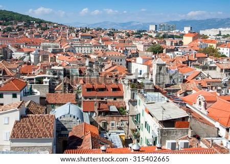 Classic red tiled rooftops of Croatia