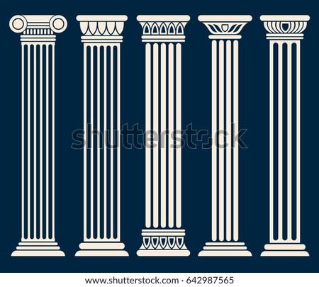 Greek Architecture Columns classic roman greek architecture columns vector stock vector