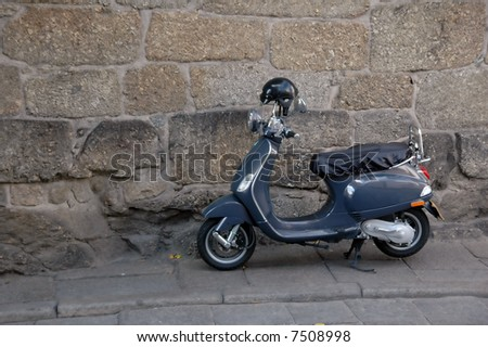 classic scooter - stock photo