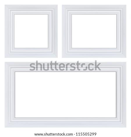 classic set of white frames
