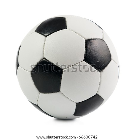 Classic Soccer Ball. Isolated on white background. - stock photo