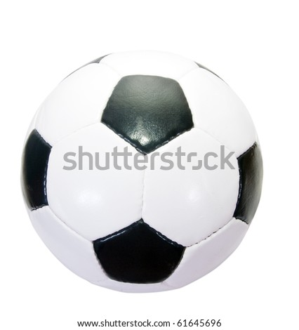 classic soccer ball. Isolated over white background with clipping path - stock photo