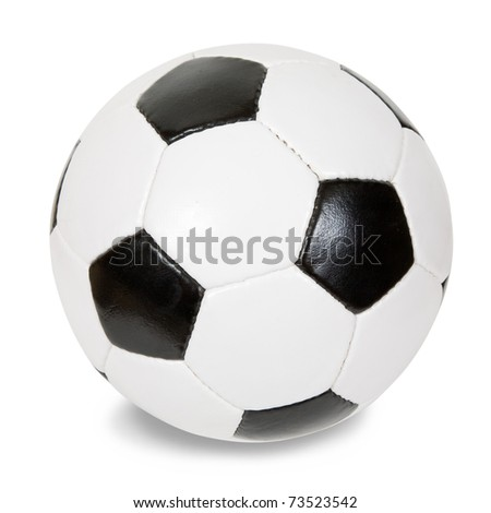 classic soccer ball. Isolated over white with clipping path - stock photo