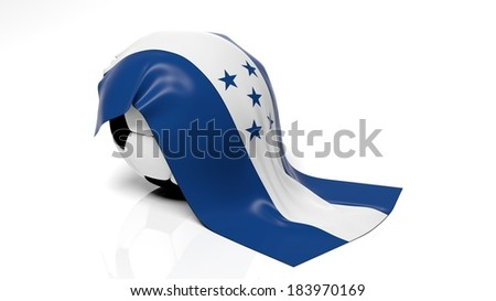 Classic soccer ball with flag of Honduras on it.  - stock photo