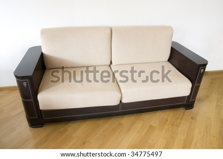 classic sofa on the wooden floor