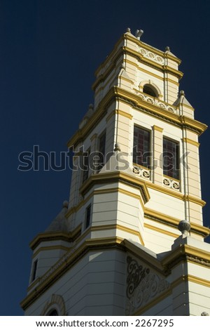 classic spanish colonial church guatemala city central america - stock photo