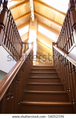 classic staircase - stock photo