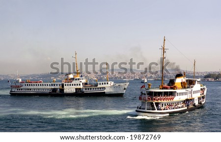 Classic steamboats of Istanbul