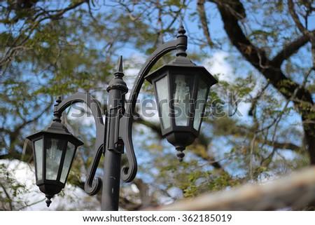 Classic street lamppost   - stock photo