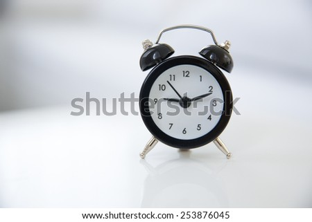 Classic style alarm clock - stock photo