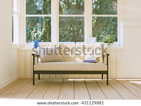 classic style sofa in living room - stock photo