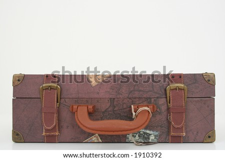 classic suit case - stock photo