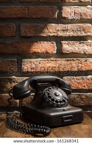 Classic Telephone in Loft Studio - stock photo