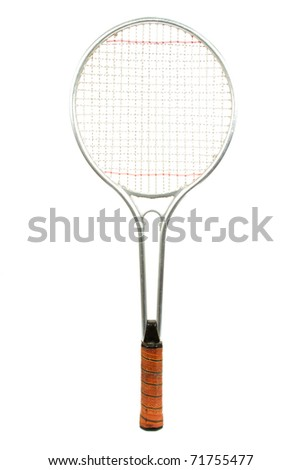 Classic Tennis Racket Isolated on a White Background - stock photo