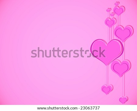 Classic Valentine's day background with pink hearts.