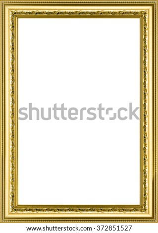 Classic Vintage Gilded Frame Isolated On Stock Photo (Royalty Free ...
