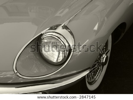 Classic & Vintage Series - various images depicting details from classic and vintage automobiles - stock photo