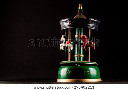 Classic Vintage Style Old Carillon with Horses - stock photo