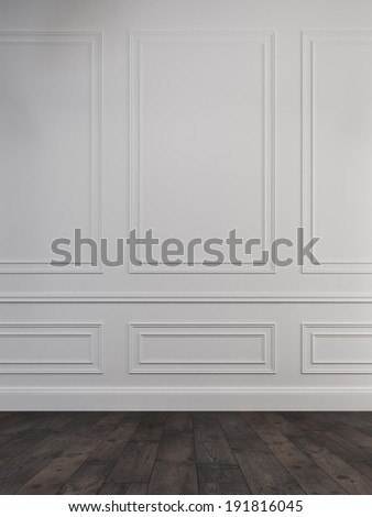 Classic wall background  - stock photo